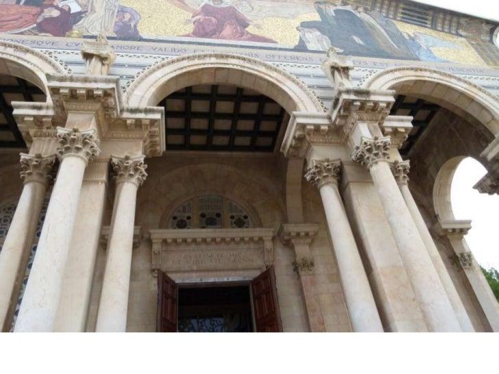 """בגת שמנים ממוקמת כנסיית """"כל העמים"""" (הידועה גם כ""""כנסיית היגון"""" או """"כנסיית הייסורים""""), פרי תכנונו של אנטוניו ברלוצי.<br />"""