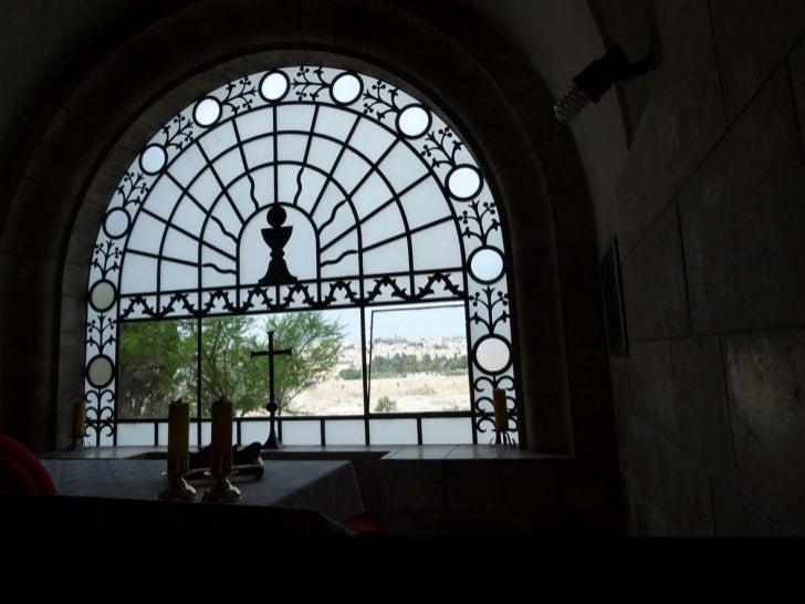 """מבט מערבה מתוך כנסיית """"האדון בכה""""<br />"""