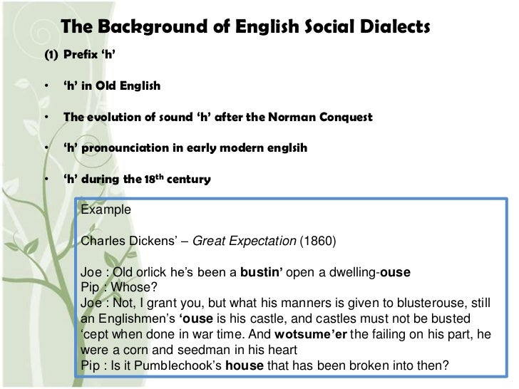 Social Dialects In English