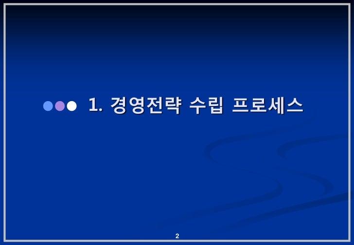 1. 경영젂략 수립 프로세스      2