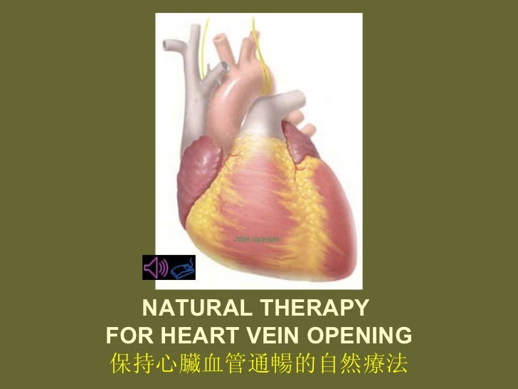 NATURAL THERAPY  FOR HEART VEIN OPENING 保持心臟血管通暢的自然療法