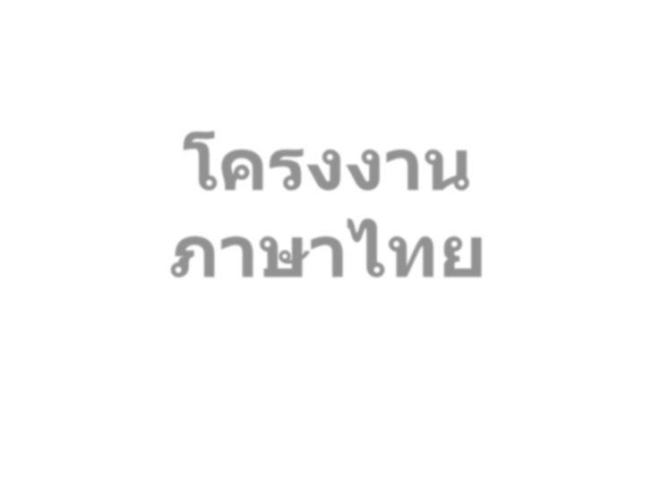 โครงงานภาษาไทย<br />หลักภาษาไทย<br />