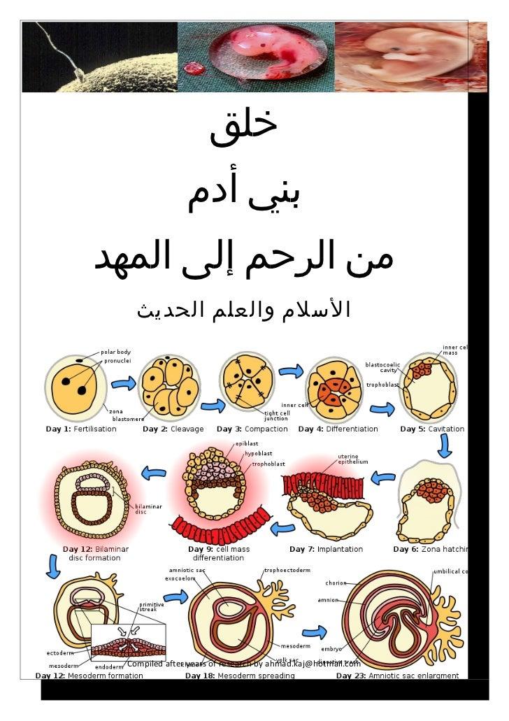خلق               بني أدممن الرحم إلى المهد   السلم والعلم الحديث Compiled after years of research by ahmad.kaj@ho...