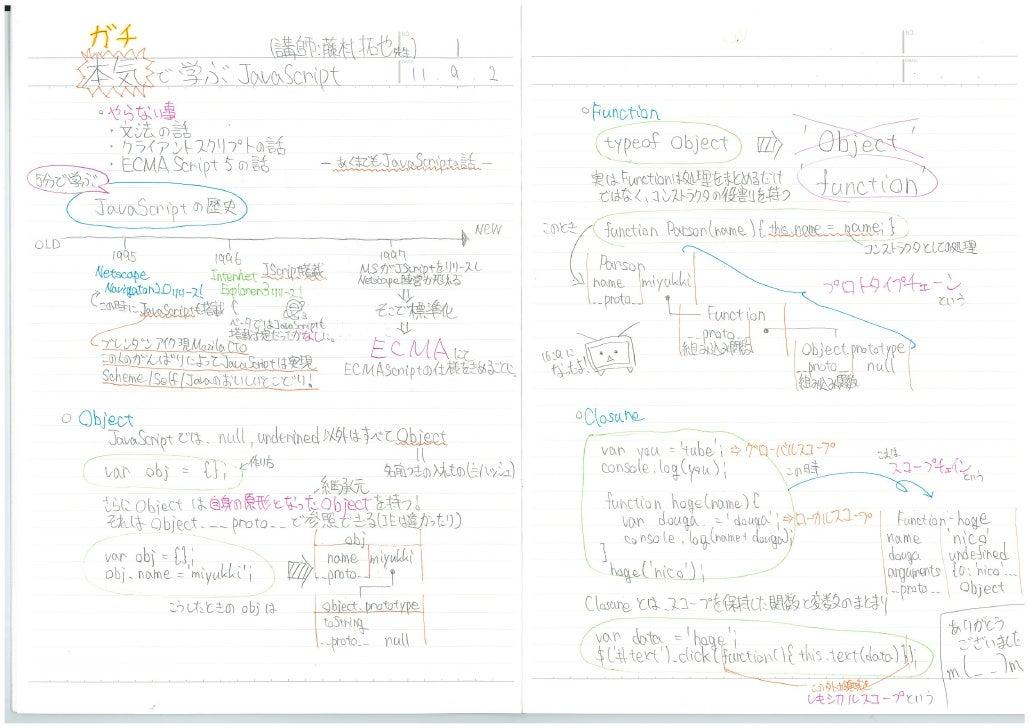 みゆっきノート #7 「本気で学ぶJavascript」