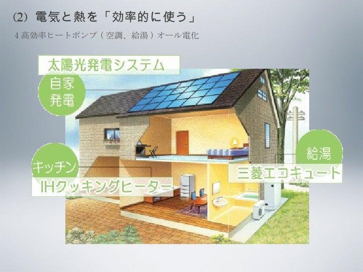 (2)  電気と熱を「効率的に使う」 4 高効率ヒートポンプ ( 空調、給湯 ) オール電化