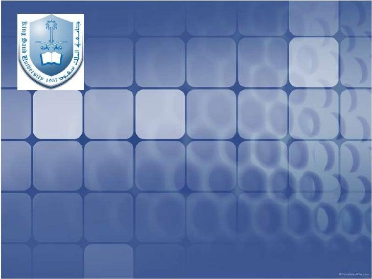 جامعة الملك سعود <br />كلية إدارة الأعمال<br />ماجستير الأعمال<br />الفصل الثالث<br />نظم المعلومات والميزة التنافسية<br /...