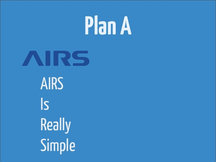Plan AAIRSIsReallySimple