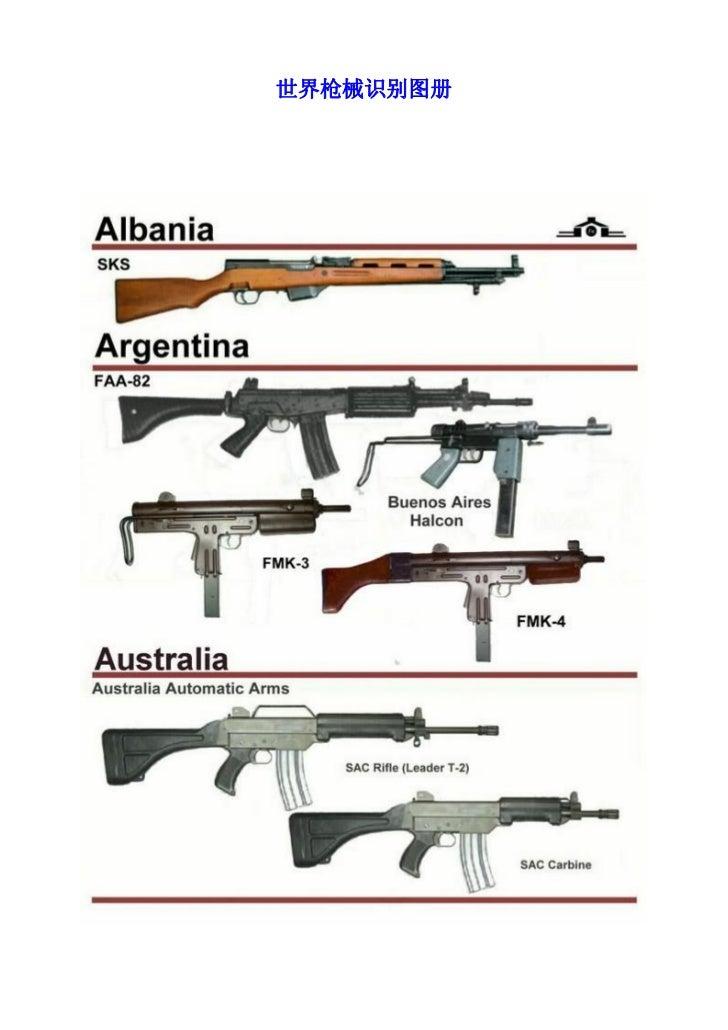 世界枪械识别图册