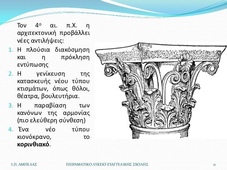 Τον 4ο αι. π.Χ. θ     αρχιτεκτονικι προβάλλει     νζεσ αντιλιψεισ:1.   Θ πλοφςια διακόςμθςθ     και      θ     πρόκλθςθ   ...