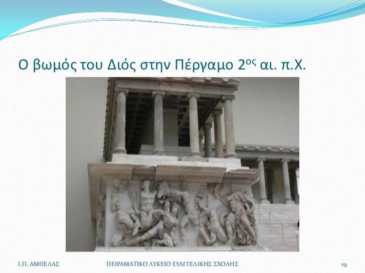 Ο βωμόσ του Διόσ ςτθν Πζργαμο 2οσ αι. π.Χ.Ι.Π. ΑΜΠΕΛΑ   ΠΕΙΡΑΜΑΣΙΚΟ ΛΤΚΕΙΟ ΕΤΑΓΓΕΛΙΚΗ ΧΟΛΗ   19