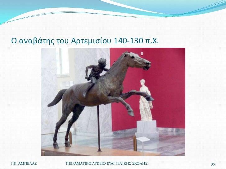 Ο αναβάτθσ του Αρτεμιςίου 140-130 π.Χ.Ι.Π. ΑΜΠΕΛΑ   ΠΕΙΡΑΜΑΣΙΚΟ ΛΤΚΕΙΟ ΕΤΑΓΓΕΛΙΚΗ ΧΟΛΗ   35