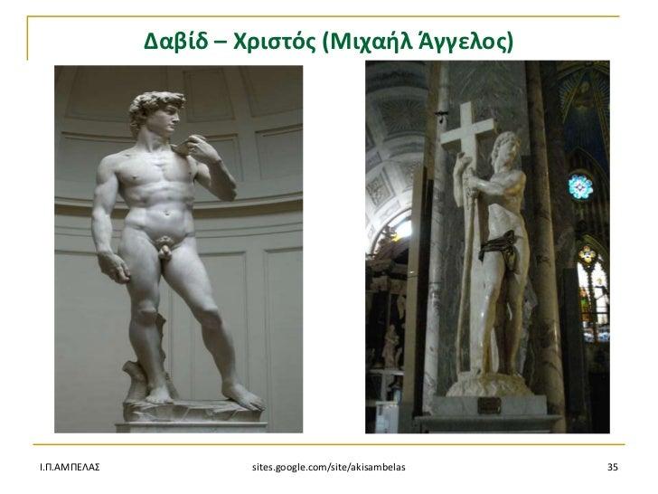 Δαβίδ – Χριςτόσ (Μιχαιλ Άγγελοσ)Ι.Π.ΑΜΠΕΛΑ            sites.google.com/site/akisambelas   35