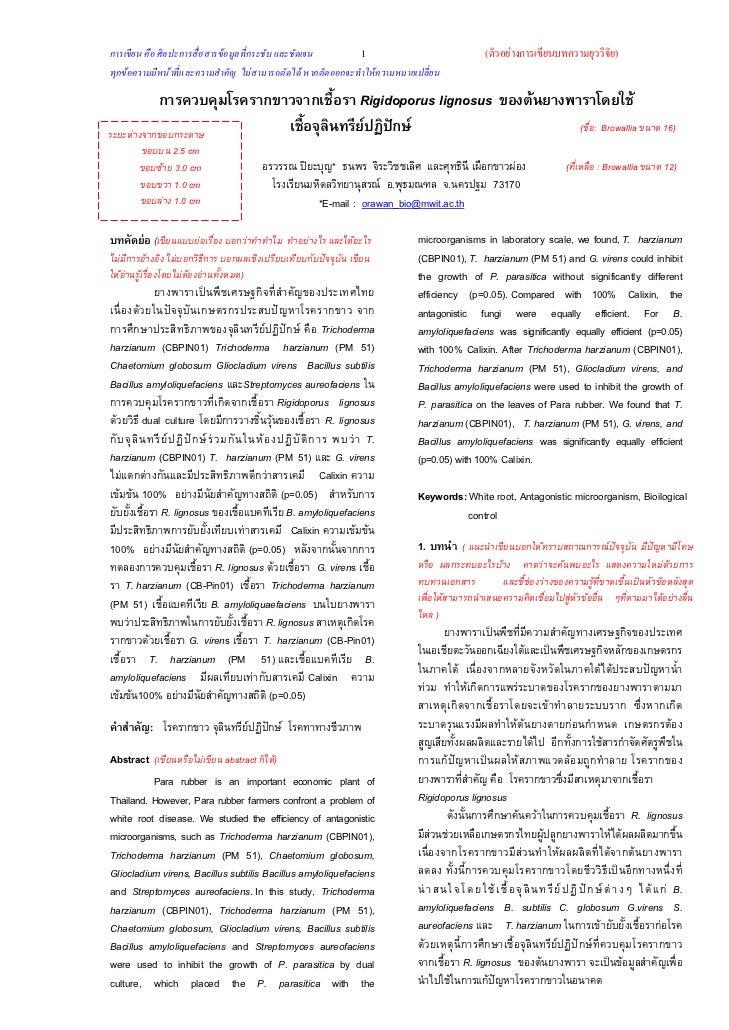 การเขียน คือ ศิลปะการสื่อสารขอมูลที่กระชับ และชัดเจน         1                                    (ตัวอยางการเขียนบทความ...