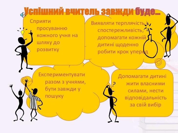 Успішний вчитель завжди буде... Сприяти               Виявляти терплячість і   просуванню            спостережливість,   к...