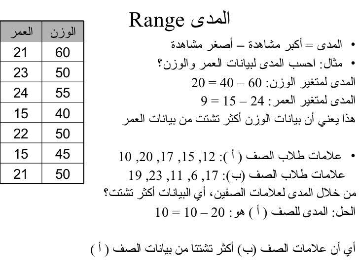 مثال                                        • المجموعة أ : 1, 4, 3, 0                                        • المجمو...