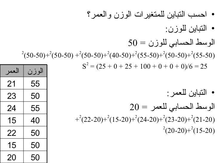عرض مقاييس التشتت في SPSS من قائمة  Analyzeإختر المر Descriptive Statistics                                ...