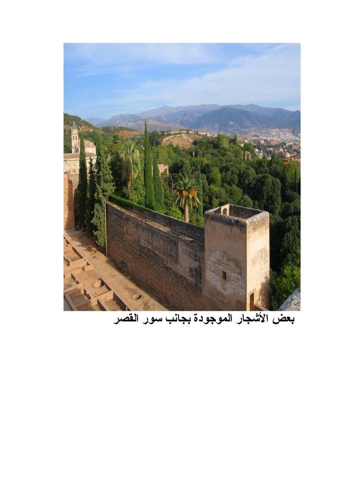 بعض الكتابات العربية الموجودة على جدران قصر الحمراء