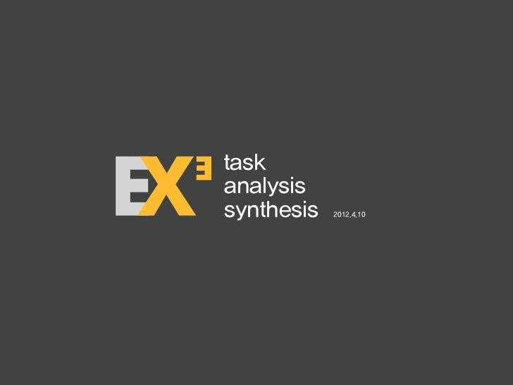 taskanalysissynthesis   2012.4.10