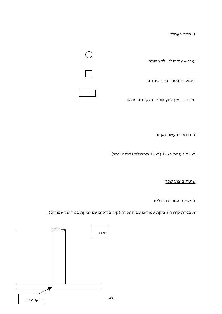 ٢. חתך העמוד                                                                עגול – אידיאלי , לחץ שווה                 ...