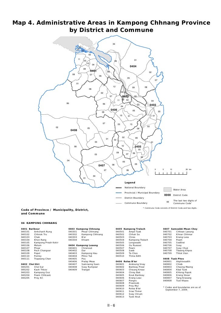 Map 4. Administrative Areas in Kampong Chhnang Province                by District and Commune                            ...