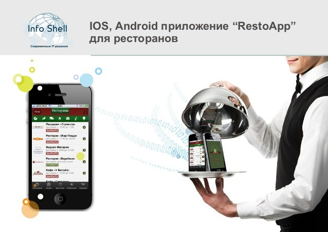 """IOS, Android приложение """"RestoApp""""для ресторанов"""