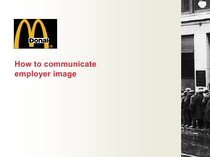 """McDonald""""s will be for them…     First job           One in a series"""