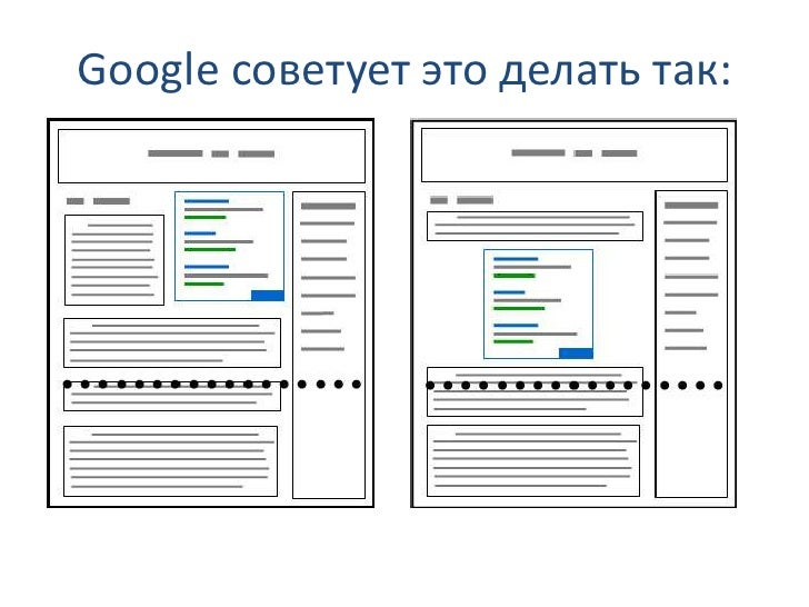 Google советует это делать так: