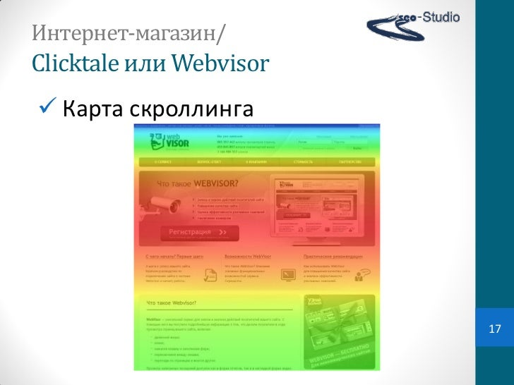 Интернет-магазин/Clicktale или Webvisor Карта скроллинга                            17