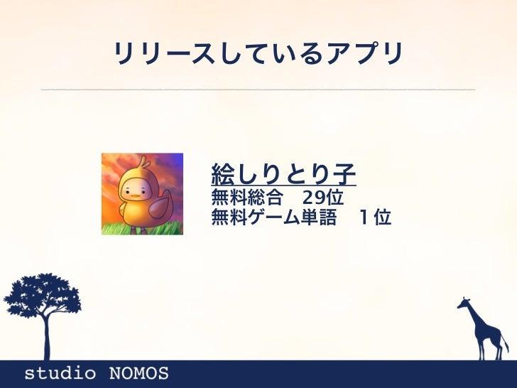 リリースしているアプリ   絵しりとり子   無料総合29位   無料ゲーム単語1位
