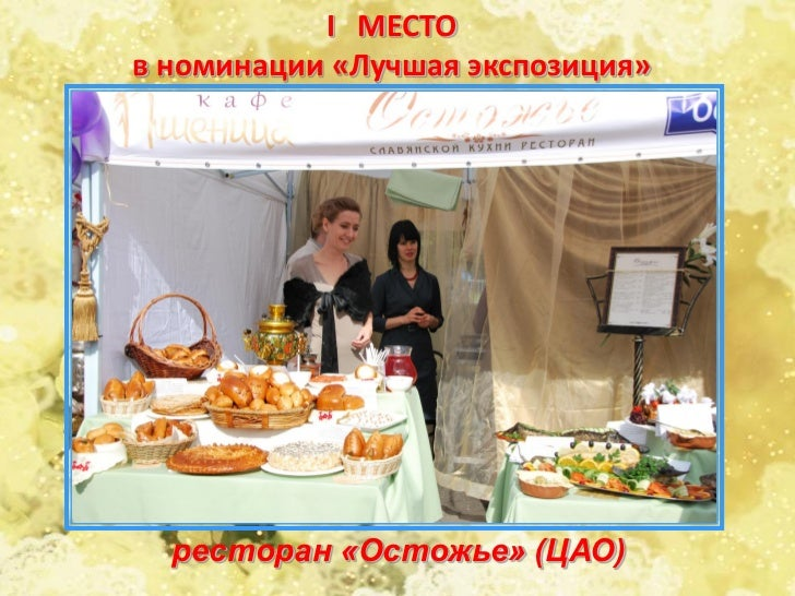 III МЕСТОв номинации «Лучшая экспозиция»    Ресторан «Годуновъ» (ЦАО)