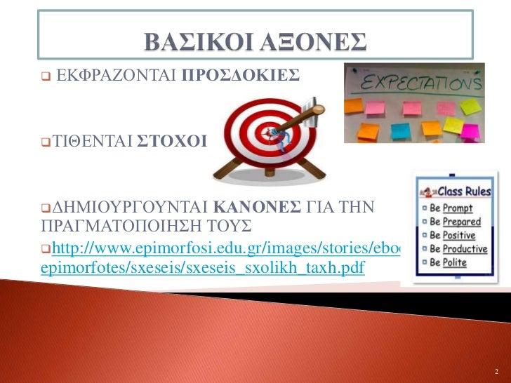 συμβόλαιο σχολικής τάξης Slide 2