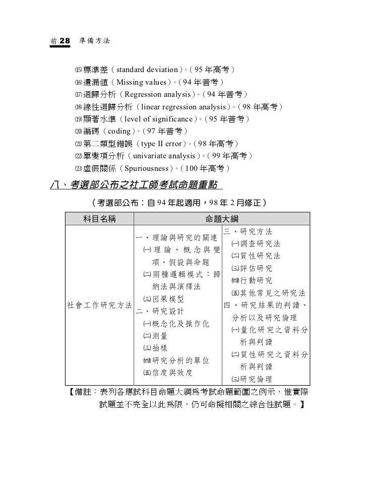 社會工作研究方法 社會工作師考試學儒 Slide 2