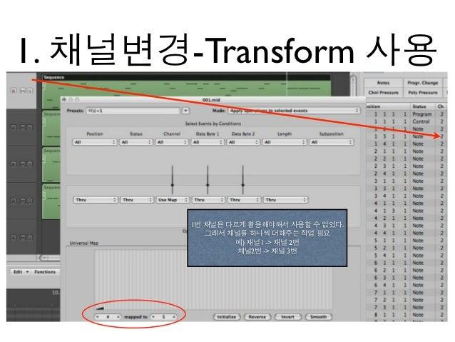 1. 채널변경-Transform 사용        1번 채널은 다르게 활용해야해서 사용할 수 없었다.           그래서 채널를 하나씩 더해주는 작업 필요                에) 채널1 -> 채널 2번  ...