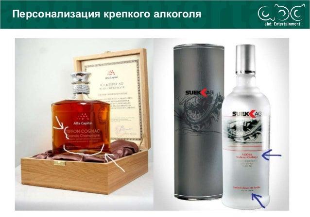 Персонализация крепкого алкоголя