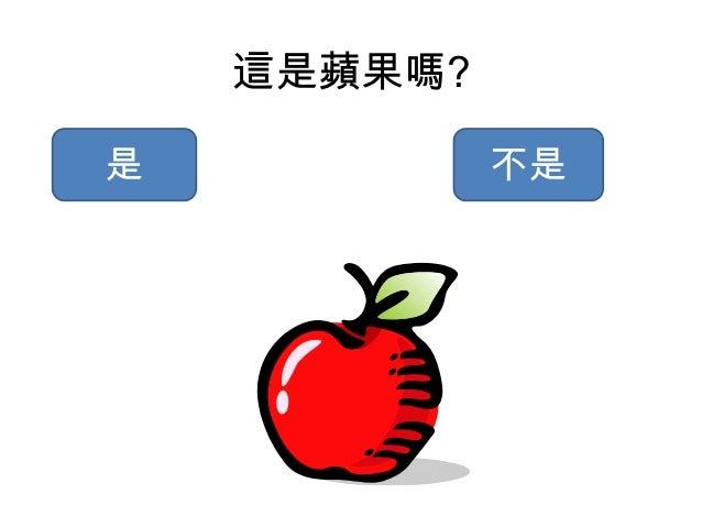 這是蘋果嗎?是            不是
