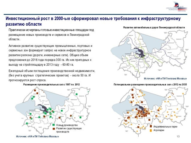 Инвестиционный рост в 2000-ые сформировал новые требования к инфраструктурномуразвитию области                            ...
