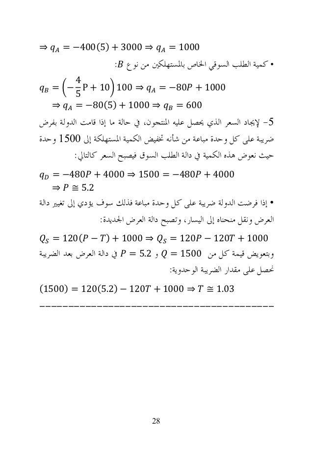 حل تمارين كتاب مقدمه في النظريه الاقتصاديه الجزئيه