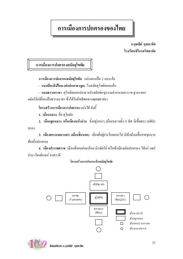 การเมืองการปกครองของไทย                                                                               อ.อุษณีย ยุชยะทัต  ...