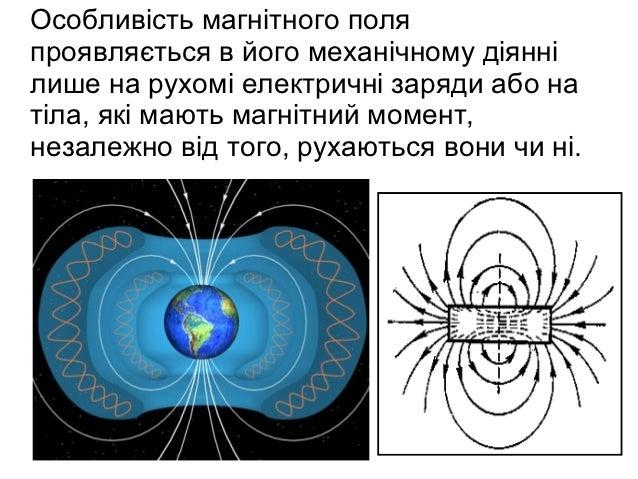 Особливість магнітного поляпроявляється в його механічному діяннілише на рухомі електричні заряди або натіла, які мають ма...
