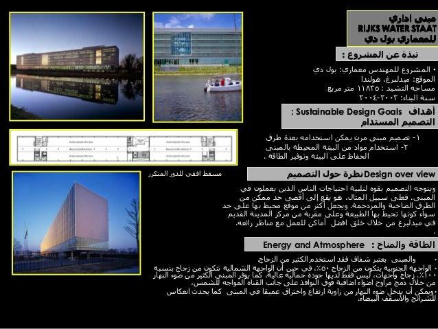 لقطه منظوريه توضح الهيكل الخارجي للمبنى   لقطه داخليه توضح االتصال االفقي والراسي