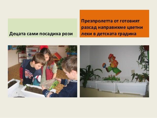 Тема на втрата година от проекта: Играем сред  природата през есента, зимата и пролетта