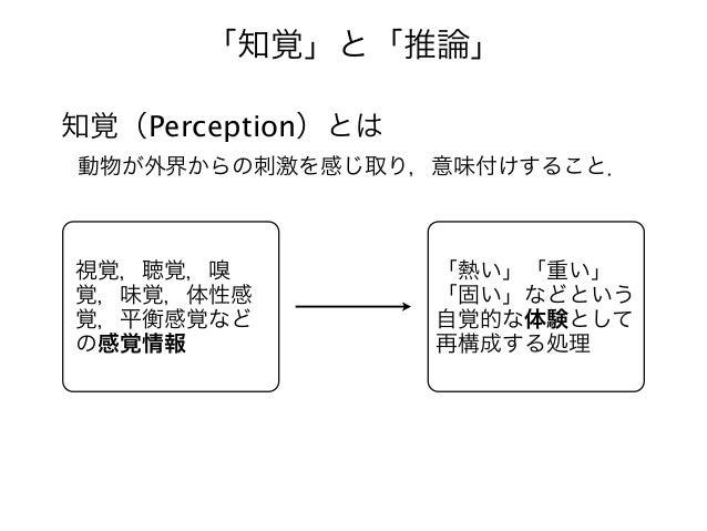 視覚認知システムにおける知覚と推論 Slide 2