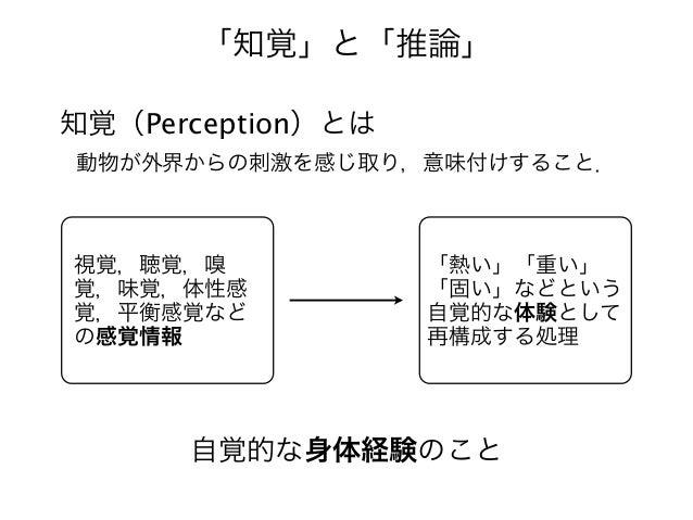 視覚認知システムにおける知覚と推論 Slide 3