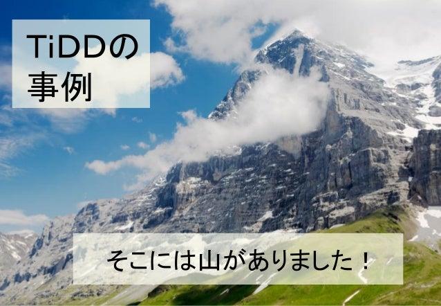 TiDDの事例   そこには山がありました!                  28