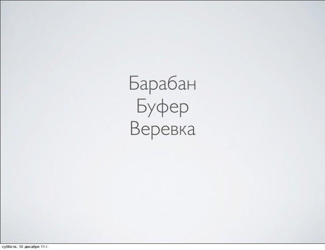 Барабан                             Буфер                            Веревкасуббота, 10 декабря 11г.