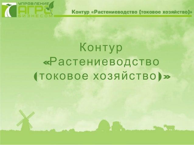 Контур   «Растениеводство( токовое хозяйство )»