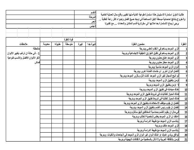القسم                                                                                        طالبنا العزٌز استمارة االس...