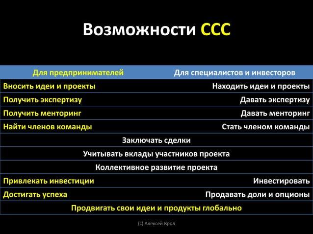 Разновидности ССС       (с) Алексей Крол