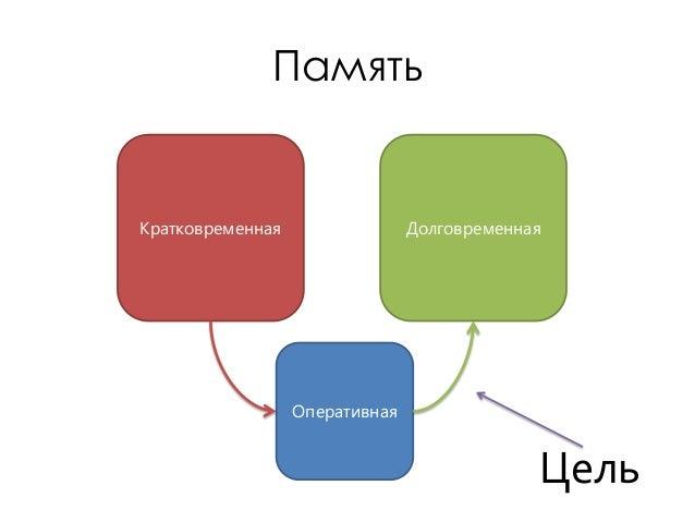 ПамятьКратковременная                 Долговременная                  Оперативная                                         ...