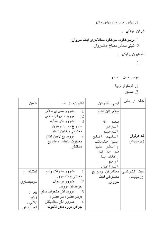 Rancangan Pengajaran Harian Pendidikan Islam Tahun 5